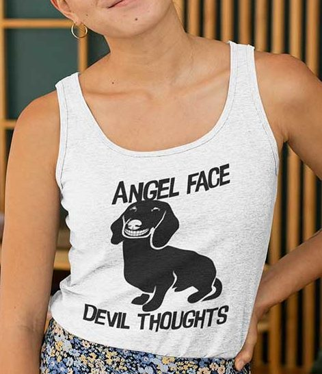Angel Face Devil Thoughts Tank