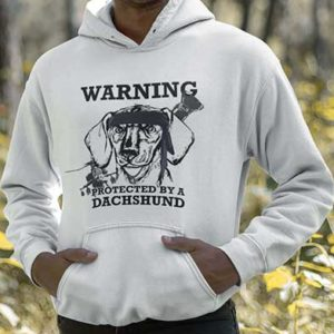 Protected by a Dachshund Men's Hoodie