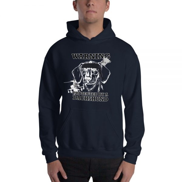 Protected by a Dachshund Men's Hoodie 3