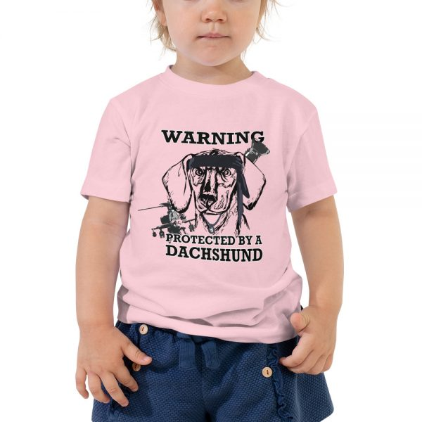 Protected by a Dachshund Toddler T-Shirt 1