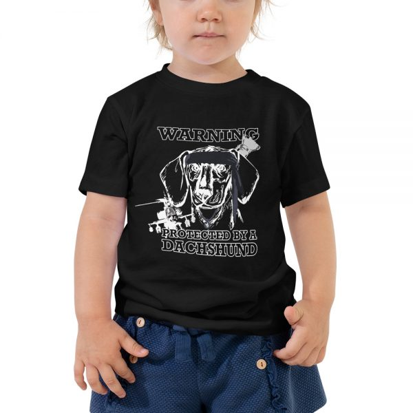 Protected by a Dachshund Toddler T-Shirt 3