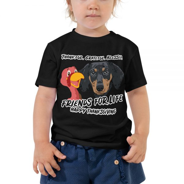 Friends For Life Thanksgiving Toddler T-Shirt 2