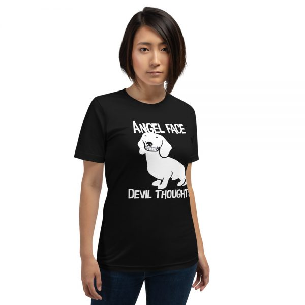 Angel Face Devil Thoughts T-Shirt 1