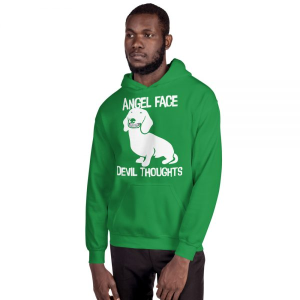 Angel Face Devil Thoughts Hoodie 4