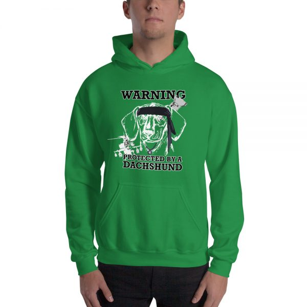Protected by a Dachshund Men's Hoodie 4