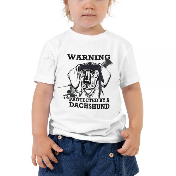 Protected by a Dachshund Toddler T-Shirt 2