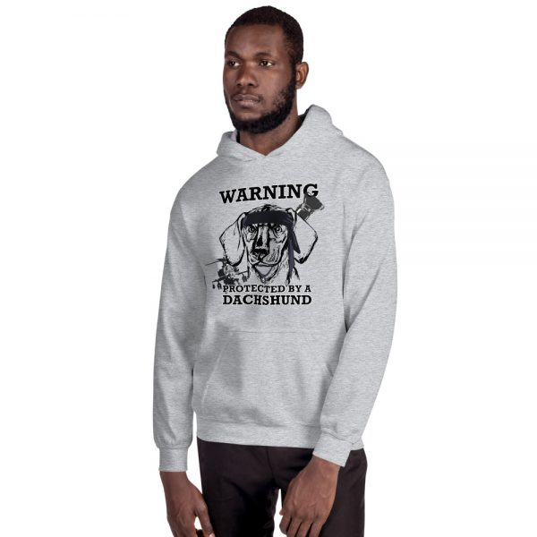Protected by a Dachshund Men's Hoodie 7