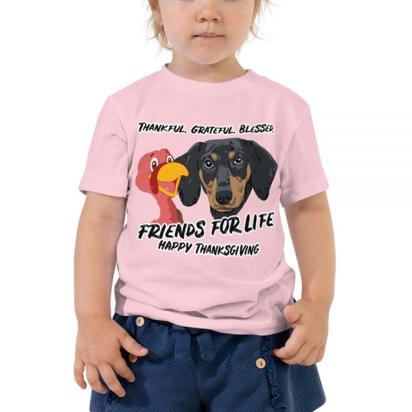 Friends For Life Thanksgiving Toddler T-Shirt 3