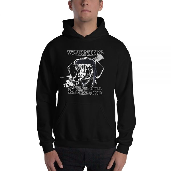 Protected by a Dachshund Men's Hoodie 1