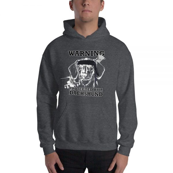 Protected by a Dachshund Men's Hoodie 2
