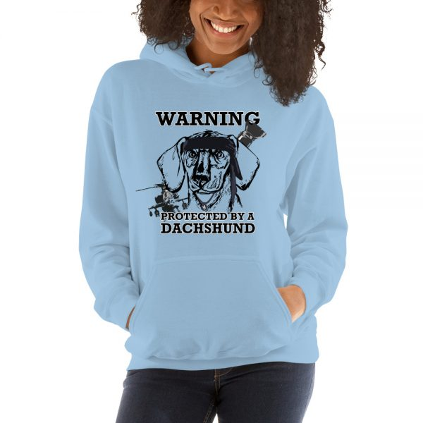 Protected by a Dachshund Hoodie 6