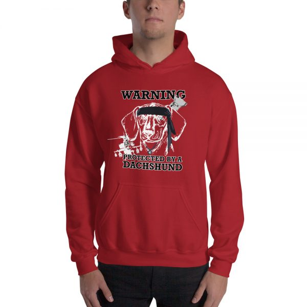 Protected by a Dachshund Men's Hoodie 5