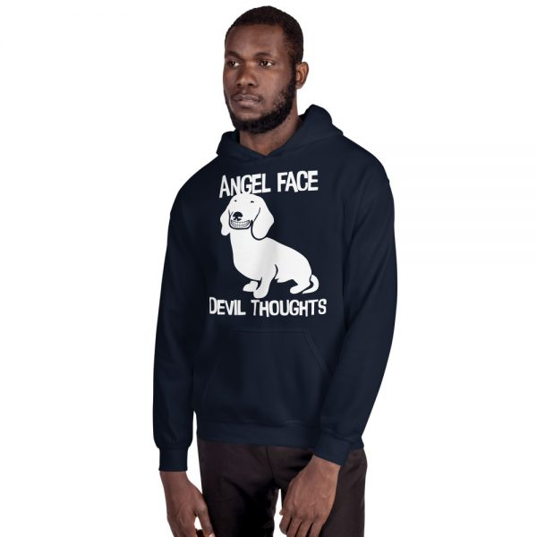 Angel Face Devil Thoughts Hoodie 3