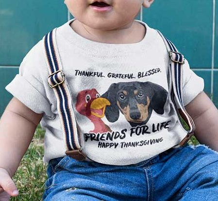 Friends For Life Thanksgiving Toddler T-shirt