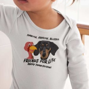 Friends For Life Thanksgiving Baby bodysuit