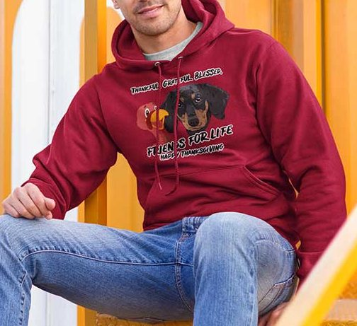 Friends For Life Thanksgiving Hoodie