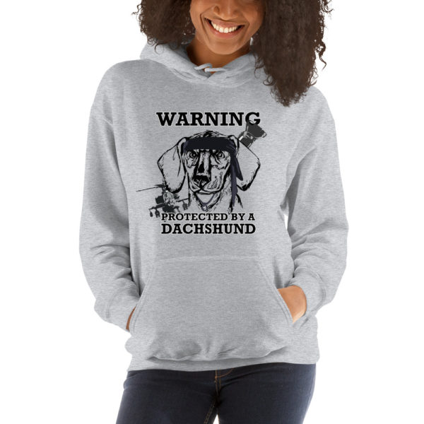 Protected by a Dachshund Hoodie 9